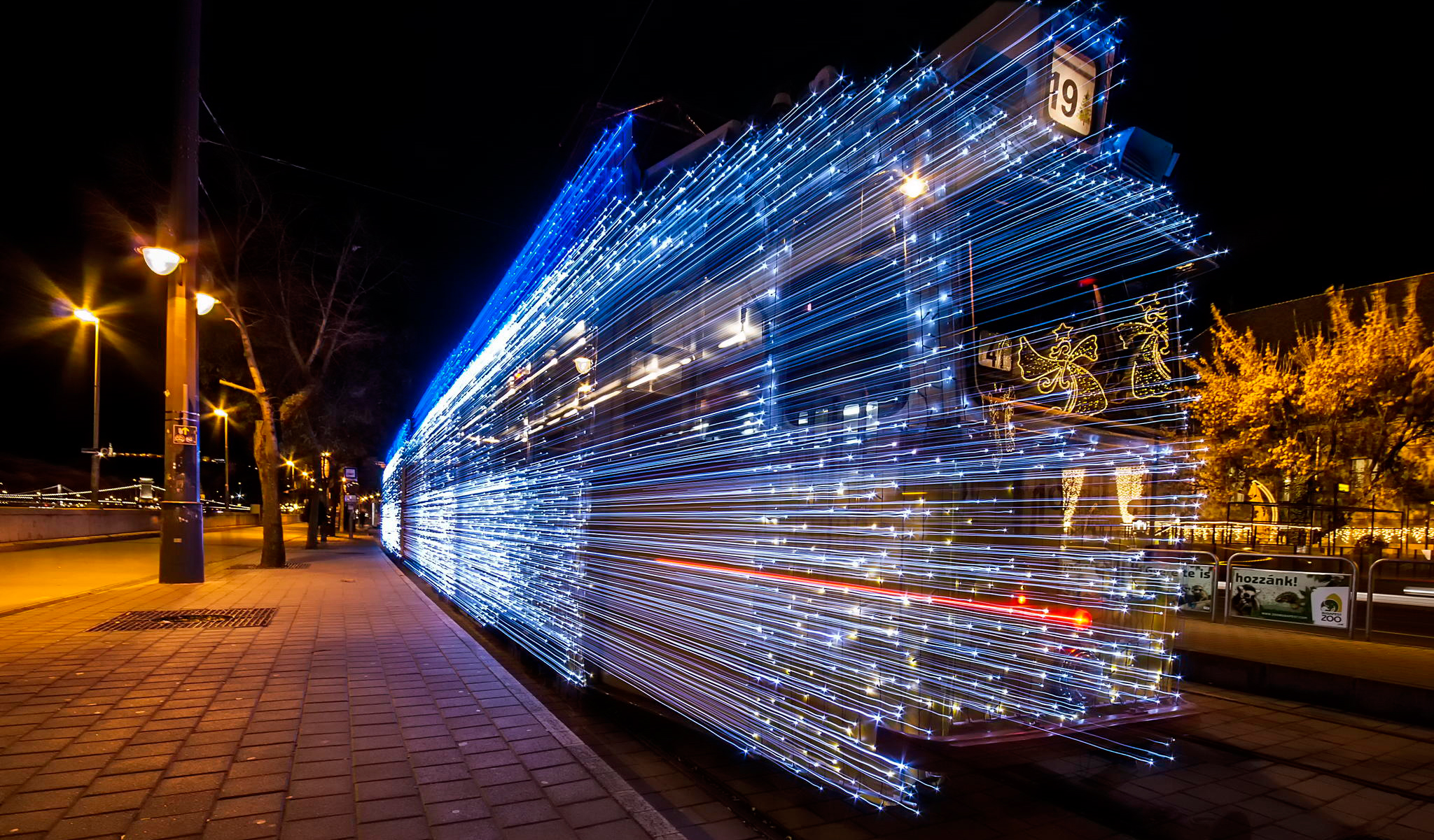 30 000 Led Lights And Long Exposure Turn Budapest Trams Into Time Machines Demilked