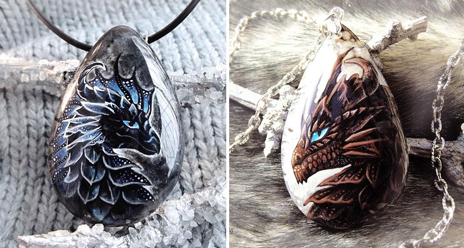 fantasy-creatures-stone-painting-necklaces-alvia-alcedo-15