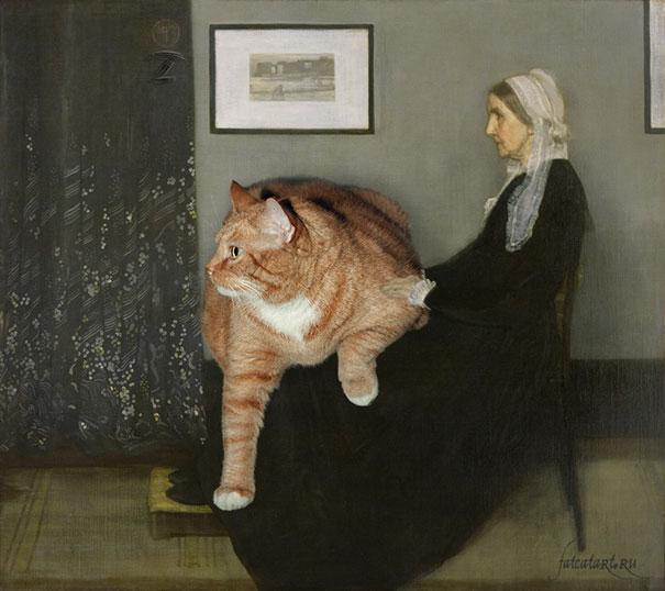 fat-cat-zarathustra-classical-paintings-svetlana-petrova-2