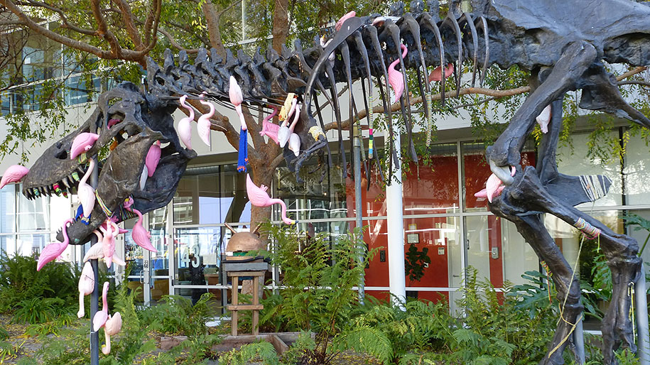 google-campus-dinosaur-stan-flamingos-4
