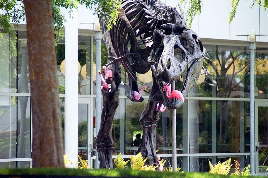 google-campus-dinosaur-stan-flamingos-6