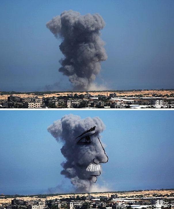 palestine-israel-rocket-strike-smoke-pareidolia-art-6