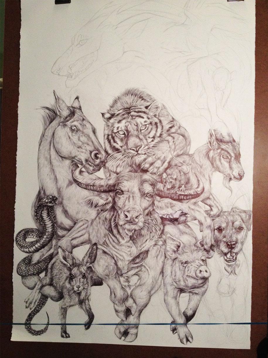 chinese-zodiac-animals-giant-drawing-casterlyrock-savannah-burgess-11