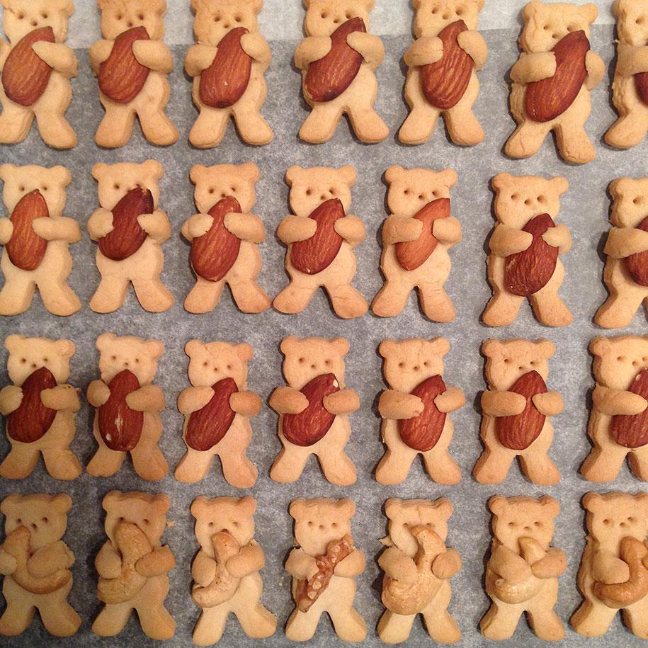 hugging-bears-nuts-cute-cookies-tamagosan-1