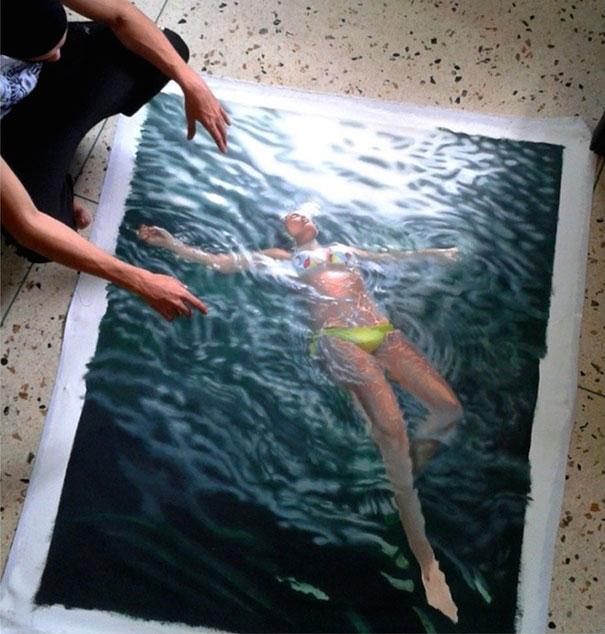 realistic-paintings-water-swimming-people-gustavo-silva-nunez-12