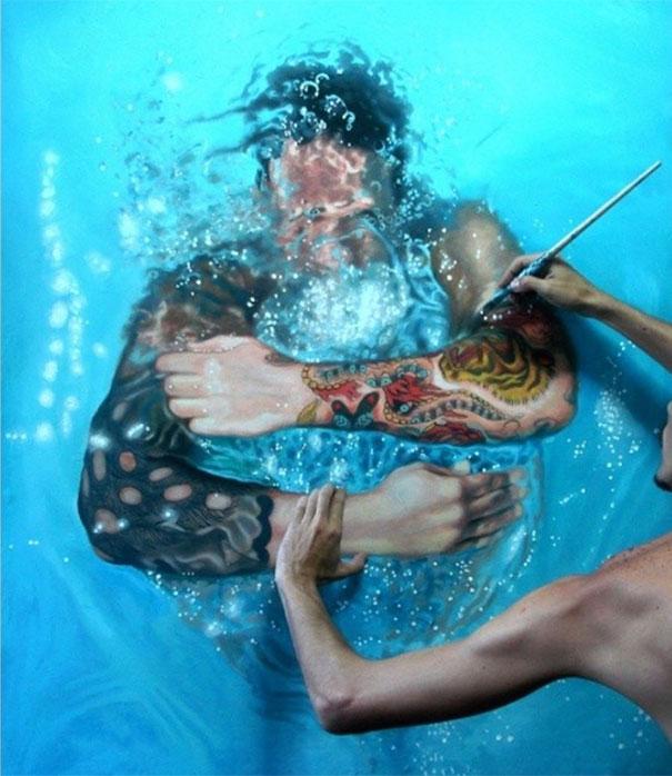realistic-paintings-water-swimming-people-gustavo-silva-nunez-2