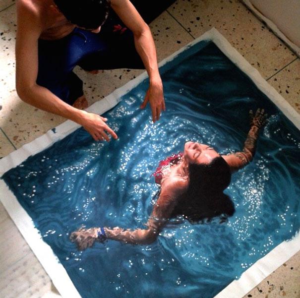 realistic-paintings-water-swimming-people-gustavo-silva-nunez-3