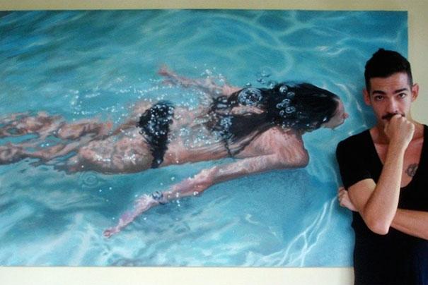 realistic-paintings-water-swimming-people-gustavo-silva-nunez-5
