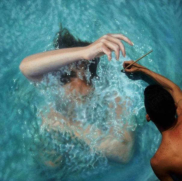 realistic-paintings-water-swimming-people-gustavo-silva-nunez-9