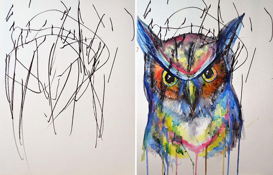 children-drawings-turned-paintings-ruth-oosterman-3
