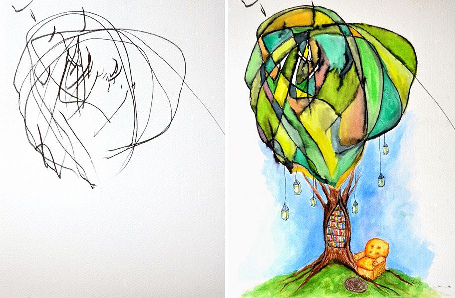 children-drawings-turned-paintings-ruth-oosterman-7