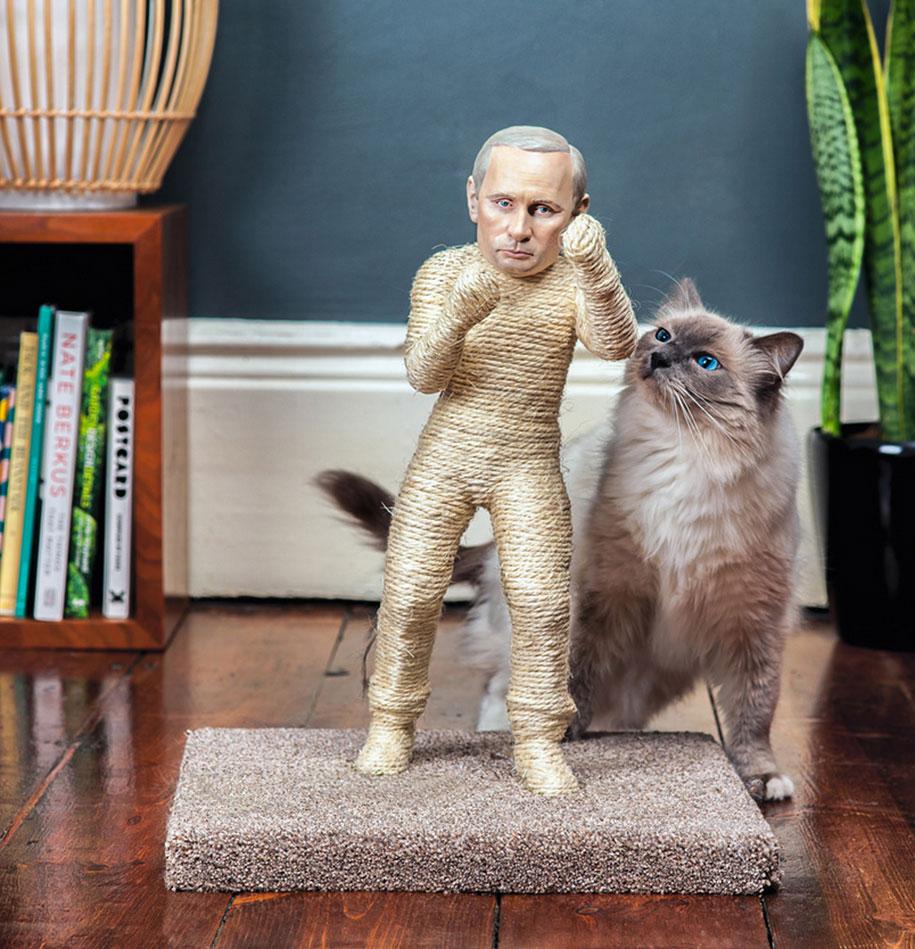 putin-kim-jong-un-cat-scratching-posts-protest-pussycat-riot-2