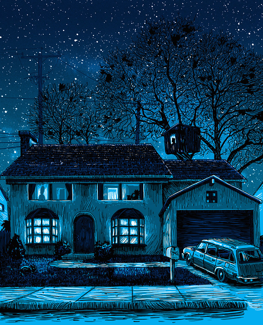 simpsons-springfield-night-illustrations-tim-doyle-1