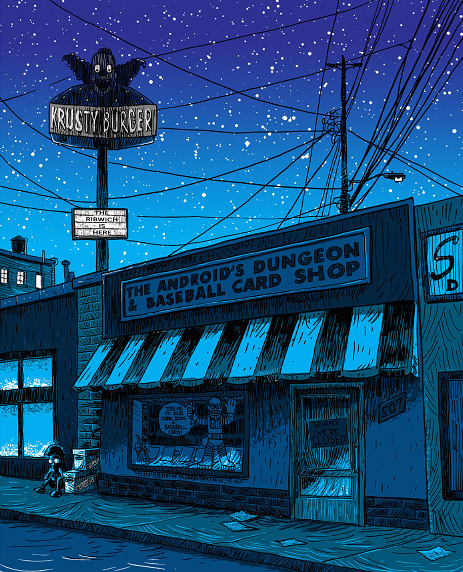 simpsons-springfield-night-illustrations-tim-doyle-4