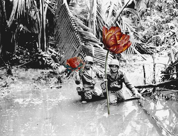 guns-flowers-vintage-photos-collage-art-blick-4
