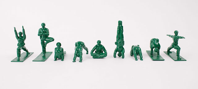** 1964-GI JOE CANADA-2019 ** New Yoga Joes Green Army Men Peace Pose 4
