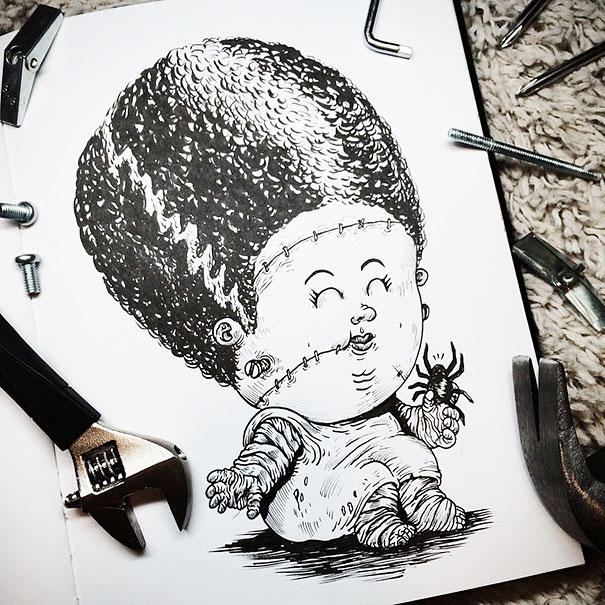 baby-terrors-iconic-horror-characters-illustrations-alex-solis-17