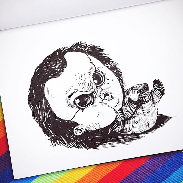 baby-terrors-iconic-horror-characters-illustrations-alex-solis-23