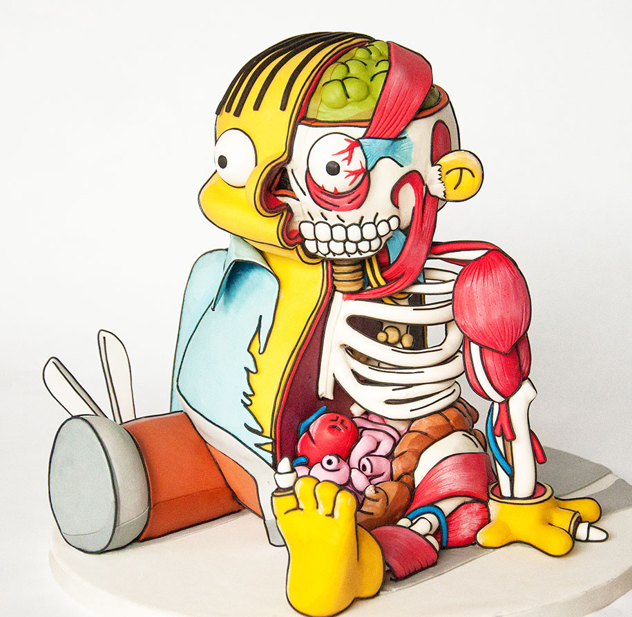 ralph-wiggum-the-simpsons-cutout-cake-kylie-mangles-freshly-squeezd-1