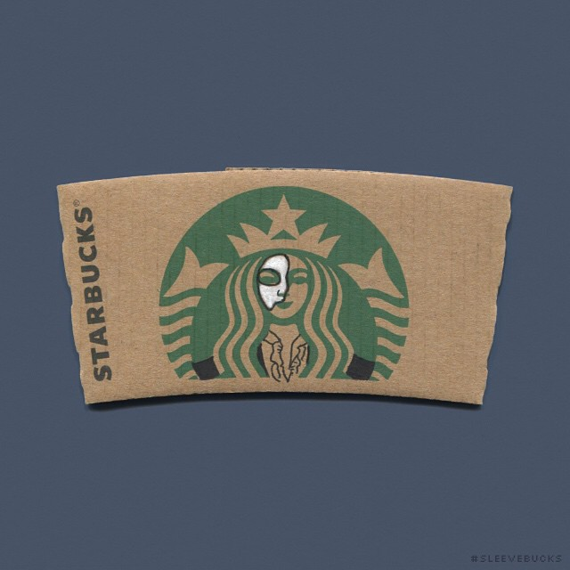 starbucks-cup-sleeve-art-pop-culture-characters-sleevebucks-10
