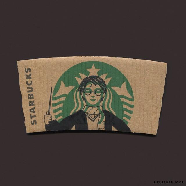 starbucks-cup-sleeve-art-pop-culture-characters-sleevebucks-8