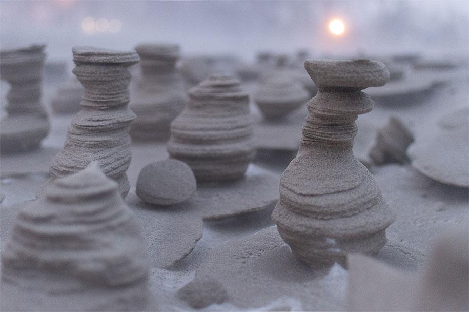 frozen-sand-towers-wind-lake-michigan-joshua-nowicki-2