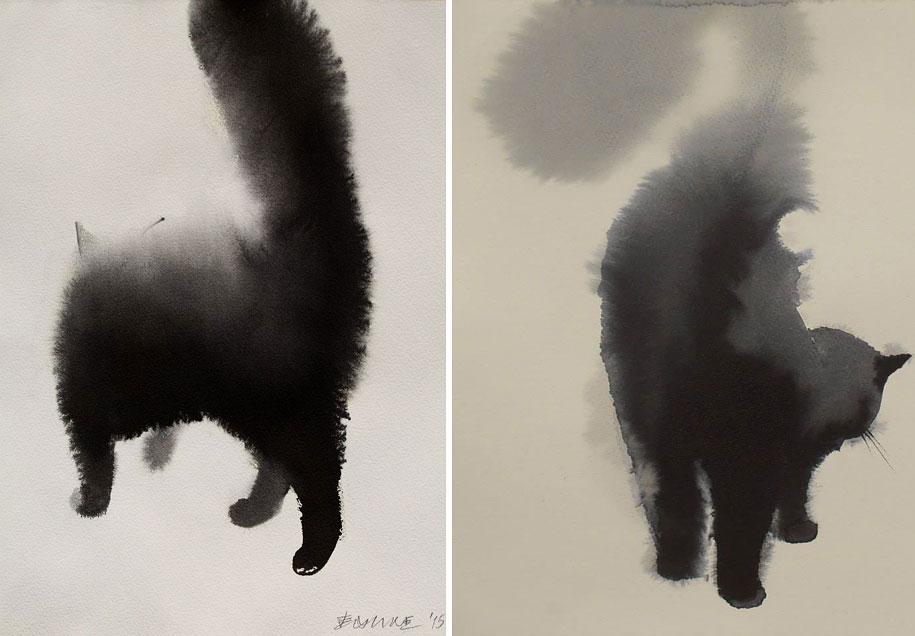 watercolor-cats-ink-paitings-endre-penovac-11