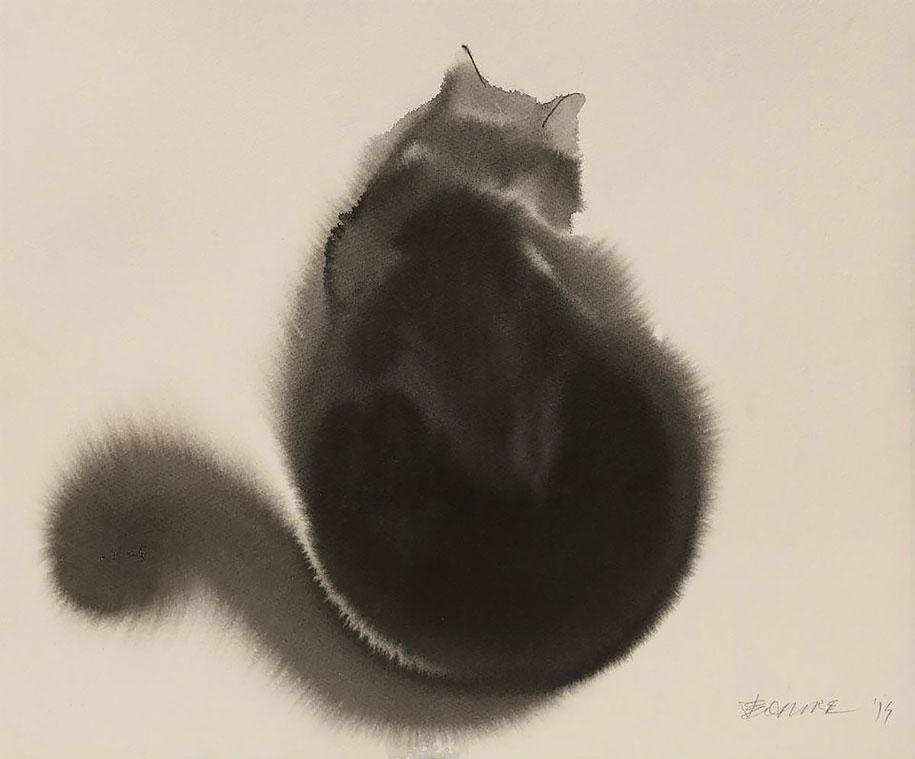 watercolor-cats-ink-paitings-endre-penovac-13