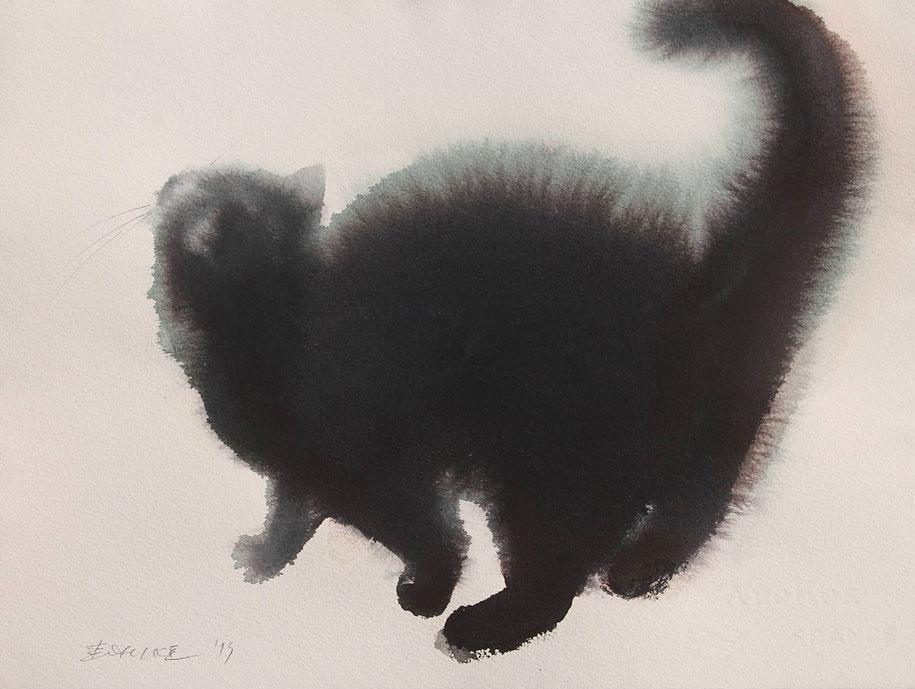 watercolor-cats-ink-paitings-endre-penovac-4