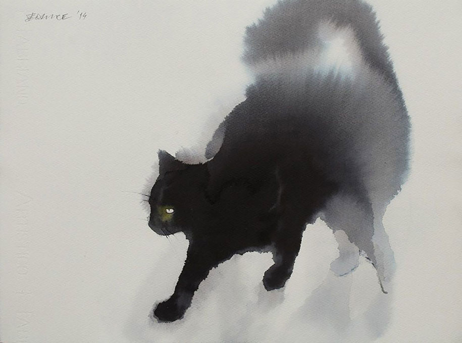 watercolor-cats-ink-paitings-endre-penovac-7