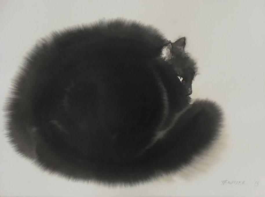 watercolor-cats-ink-paitings-endre-penovac-8