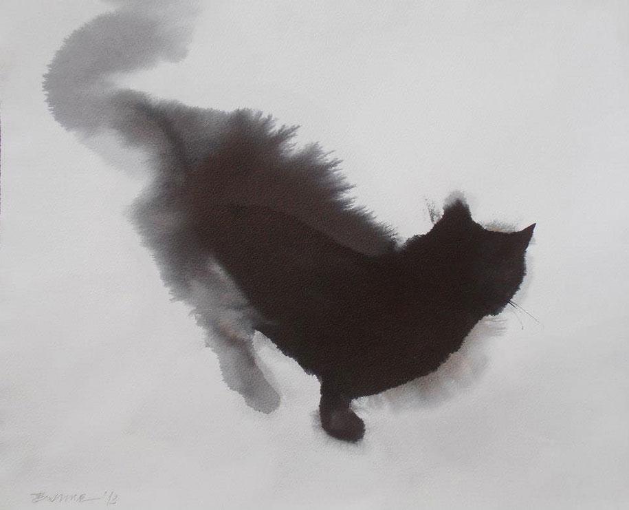 watercolor-cats-ink-paitings-endre-penovac-9