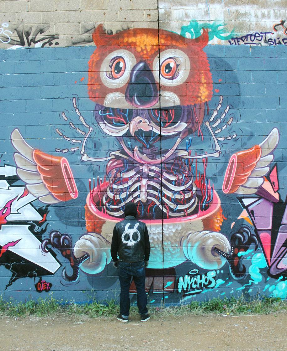 cartoon-character-animal-dissection-street-art-nychos-1