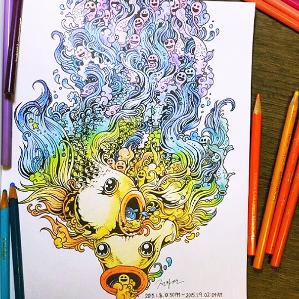 funny-adult-coloring-book-doodle-invasion-kerby-rosanes-14