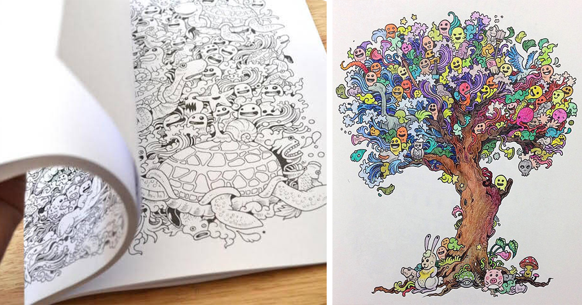 Incredibly Detailed Coloring Books For Adults Called 'Doodle Invasion'  DeMilked