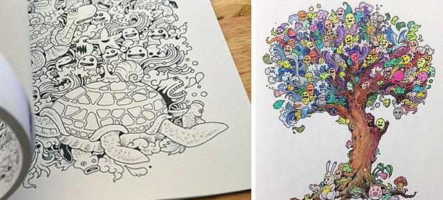 - Incredibly Detailed Coloring Books For Adults Called 'Doodle Invasion'  DeMilked