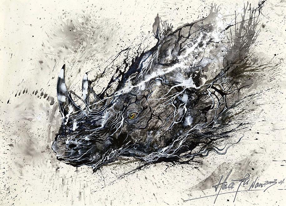 animal-paintings-ink-on-paper-hua-tunan-14