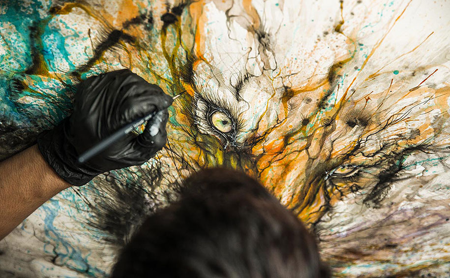 animal-paintings-ink-on-paper-hua-tunan-16