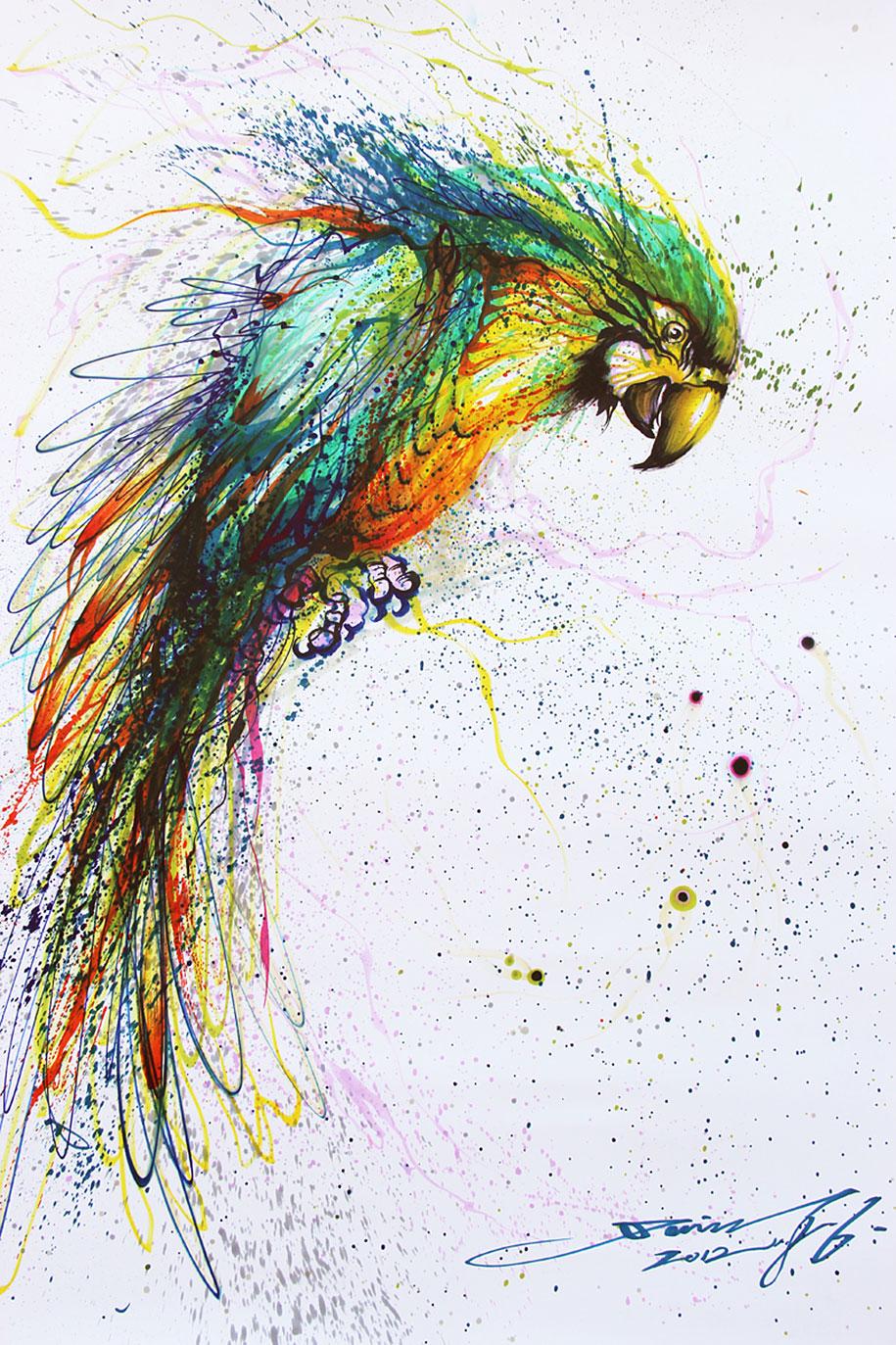 animal-paintings-ink-on-paper-hua-tunan-18