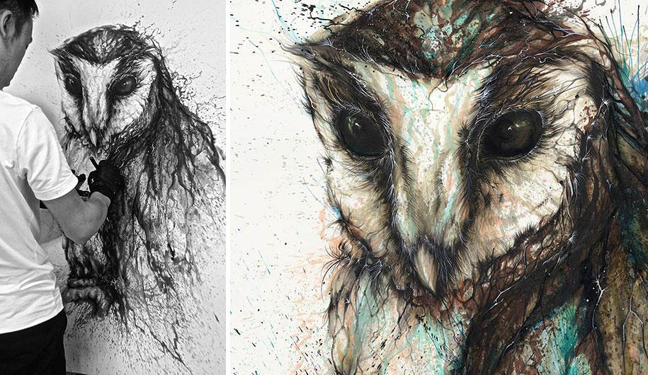 animal-paintings-ink-on-paper-hua-tunan-9
