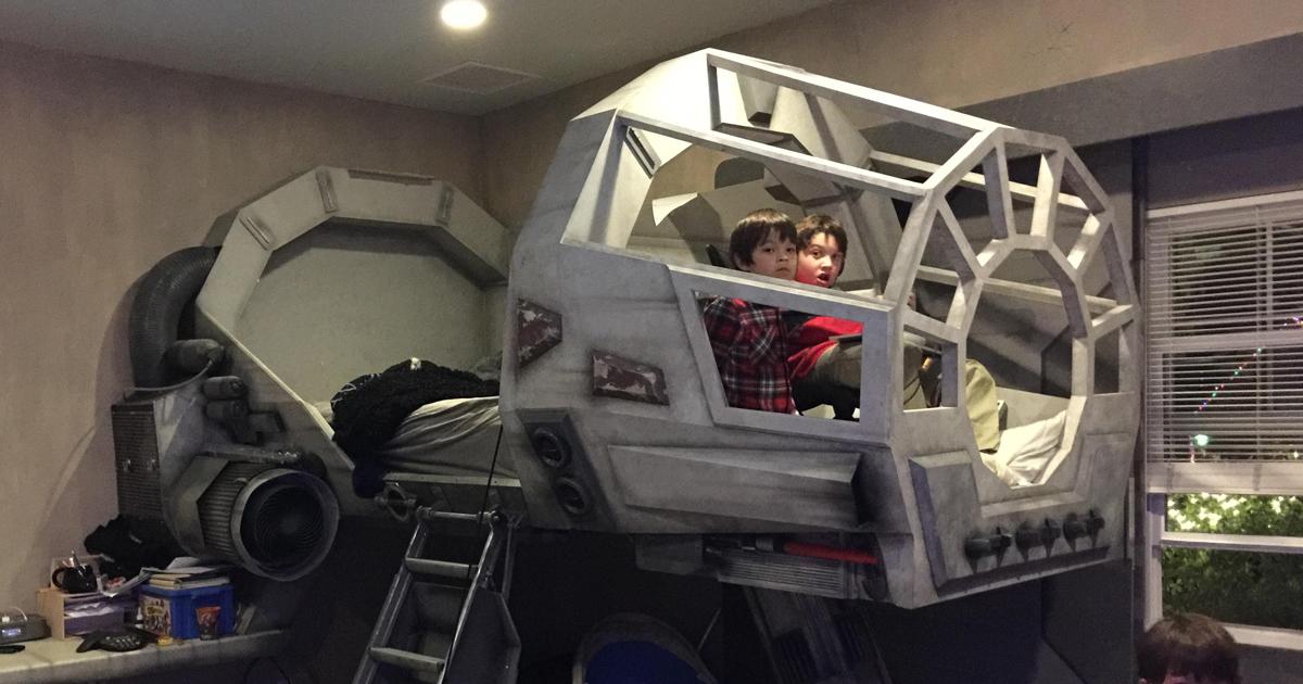 Creative Dad Makes His Son An Epic Star Wars Millennium Falcon Bed Demilked