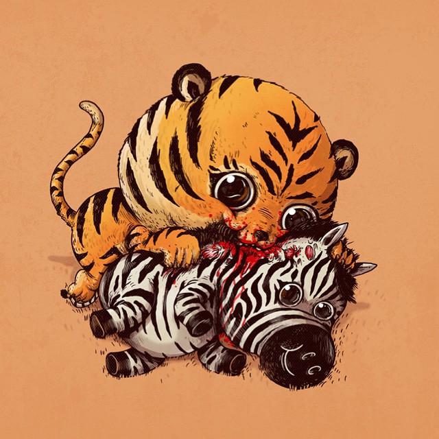 cute-disturbing-animal-drawings-predator-prey-alex-solis-alexmdc-1