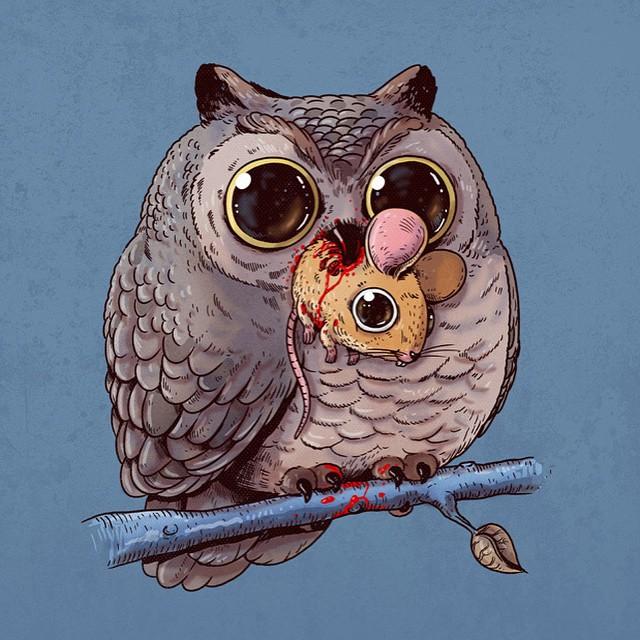 cute-disturbing-animal-drawings-predator-prey-alex-solis-alexmdc-3