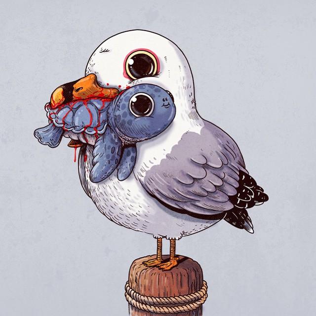 cute-disturbing-animal-drawings-predator-prey-alex-solis-alexmdc-4