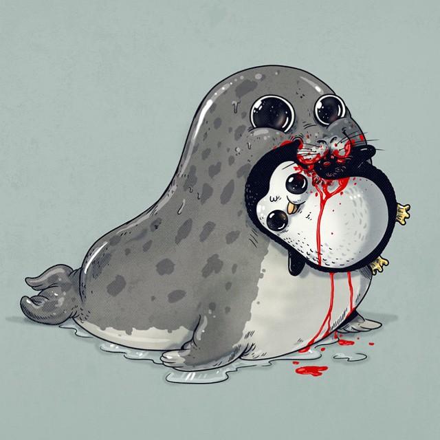 cute-disturbing-animal-drawings-predator-prey-alex-solis-alexmdc-5