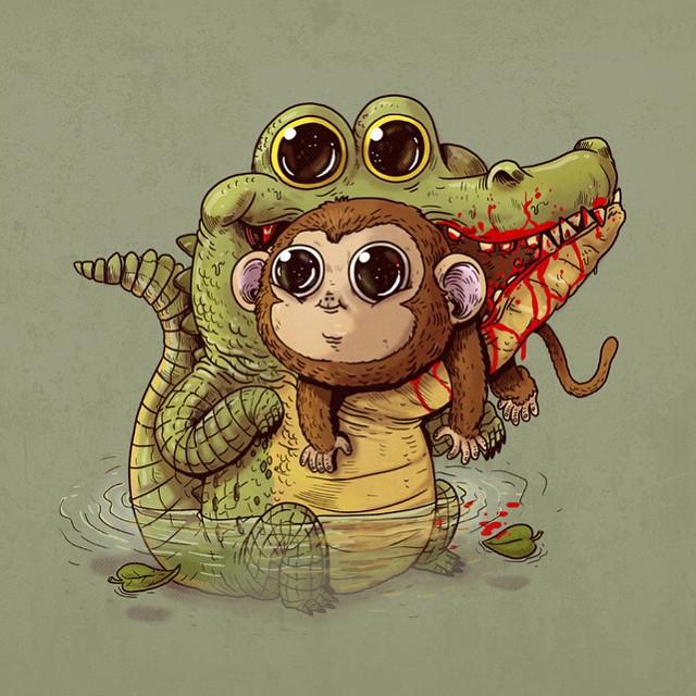 cute-disturbing-animal-drawings-predator-prey-alex-solis-alexmdc-6