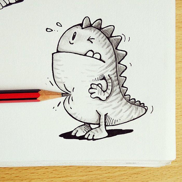 cute-dragon-doodles-interact-3d-objects-drogo-manik-ratan-1
