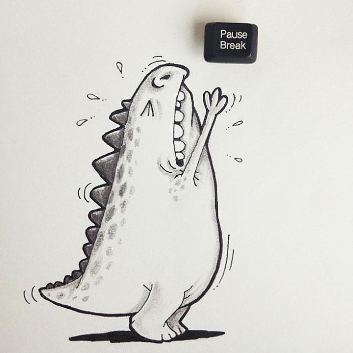 cute-dragon-doodles-interact-3d-objects-drogo-manik-ratan-2