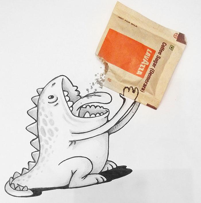 cute-dragon-doodles-interact-3d-objects-drogo-manik-ratan-8