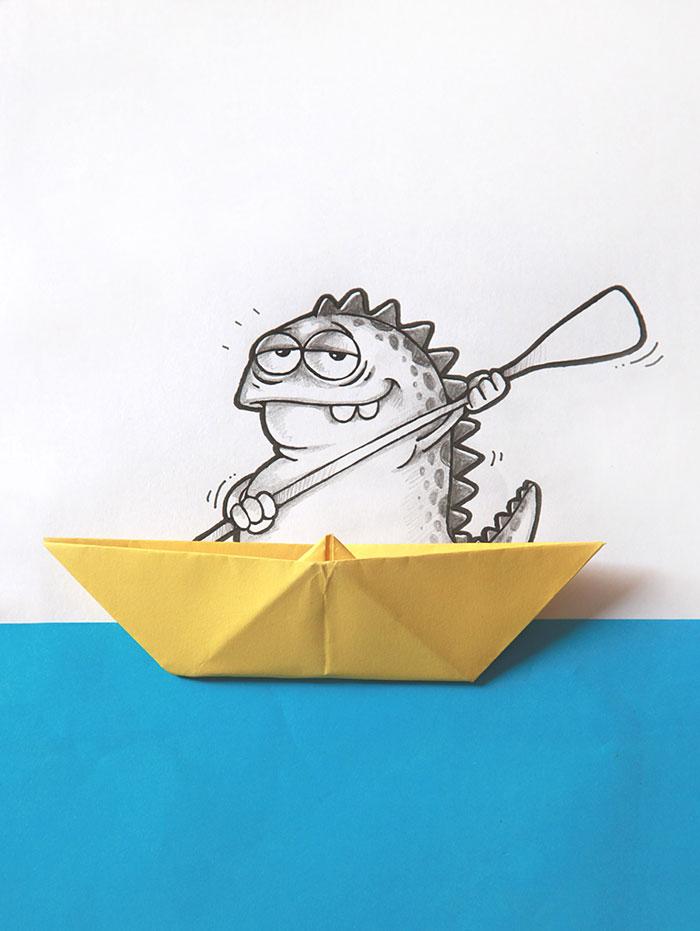 cute-dragon-doodles-interact-3d-objects-drogo-manik-ratan-9